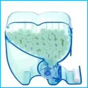 Distributeur de rouleaux salivaires plastique